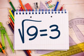 Composite image of square root of three — Stock Photo