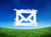 Composite image of cloud email — Stock Photo