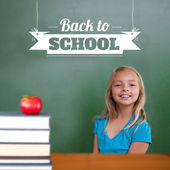 Composite image of back to school message — Foto Stock