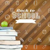 Composite image of school icons — Stock Photo