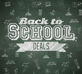 Back to school deals message — Stock Photo