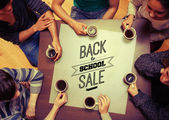 Lidé pití kávy — Stock fotografie