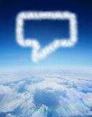 Cloud in shape of speech bubble — Stock Photo