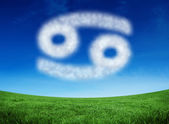 Cloud in shape of cancer star sign — Stock Photo