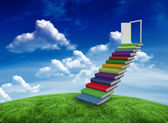 Composite image of steps made of books — Stock Photo