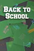 Composite image of back to school message — Stock Photo