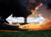 Composite image of cloud arrows — Photo