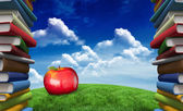 Composite image of red apple — Stock Photo
