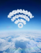 Cloud in shape of wifi sign — Stock Photo