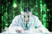 Businessman typing on keyboard — Stock Photo