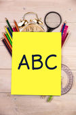 Composite image of abc letters — Stock fotografie