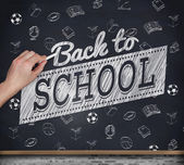 Hand writing with chalk — Stock Photo
