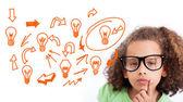 Composite image of idea and innovation graphic — Foto de Stock