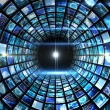 Vortex of digital screens in blue — Stock Photo #51591291