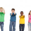 Children showing thumbs up — Stock Photo #51595327