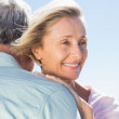 Senior woman hugging her partner — Stock Photo #51596153