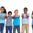 Children showing thumbs up — Stock Photo #51596939