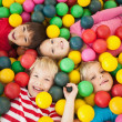 Children playing in ball pool — Stok fotoğraf #51597879