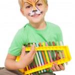 Boy playing xylophone — Stock Photo #51598707