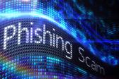 Phishing scam on digital screen — Stock Photo