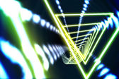 Triangle design with glowing light — Photo