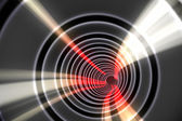 White spiral with red light  — Stock Photo