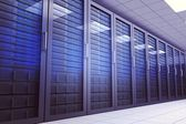 Digitally generated server room — Stock Photo