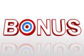 The word bonus with target — Stock Photo
