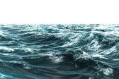 Digitally generated stormy blue sea — Stock Photo
