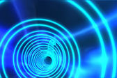 Blue spiral with bright light — Stock fotografie