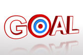 The word goal with target — Stock Photo