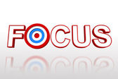 The word focus with target — Stock Photo