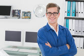 Smiling technician looking at camera — Stock Photo