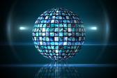 Sphere of digital screens in blue — Stock Photo
