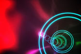 Colourful spiral with red glow — Stock Photo