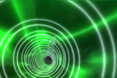 Green spiral with bright light — Stockfoto