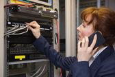 Técnico de informática bonita — Fotografia Stock