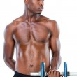 Serious fit man lifting dumbbell — Stock Photo #51600127