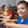 Cute pupils in computer class — Stock Photo #51600987