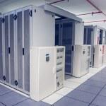 Empty hallway of server towers — Stock Photo #51601423