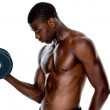 Serious fit man lifting dumbbell — Stock Photo #51601635