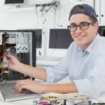 Computer engineer working — Stock Photo #51603083