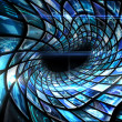 Vortex of digital screens in blue — Stock Photo #51607843