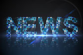 News made of digital screens in blue — Stock Photo