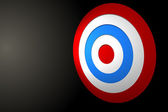 Digitally generated Red and blue target — Stock Photo