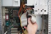 Computer engineer working on broken console  — Foto de Stock