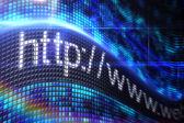 Http address on digital screen — Stock Photo