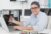Computer engineer working — Stock Photo