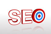 The word seo with target — Stock Photo