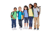 Cute schoolchildren smiling — Stock Photo